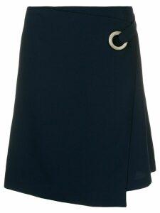 Steffen Schraut asymmetric wrap skirt - Blue