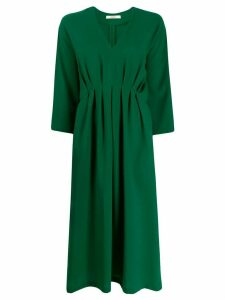 Odeeh loose-fit v-neck dress - Green