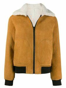 Zadig & Voltaire Lotta shearling coat - Neutrals