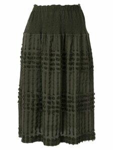 Issey Miyake Cauliflower Pon textured skirt - Green