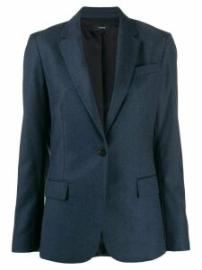 Theory woven one-button blazer - Blue