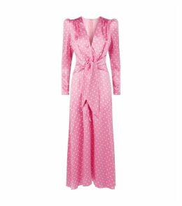 Silk Polka-Dot Dress