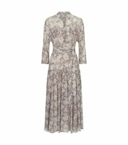 Eley Midgard Snake Print Midi Dress
