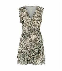 Priya Patch Wrap-Around Dress