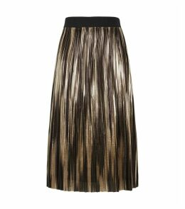 Mikaela Metallic Pleated Midi Skirt