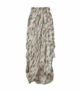 Candelia Draped Midi Skirt