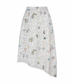Waleska Eyelet Detail Midi Skirt
