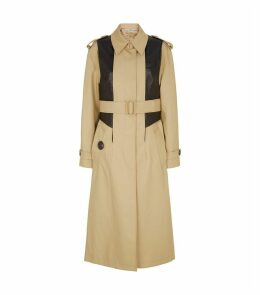 Leather Panelled Trench Coat