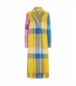 Multicoloured Check Coat