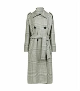 Mila Houndstooth Trench Coat