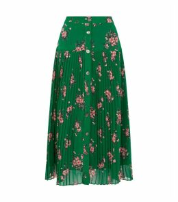 Floral Pleated Kristi Skirt