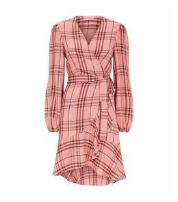 Jennifer Check Wrap Dress