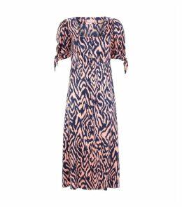 Silk Animal Print Lenora Dress