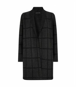 Wool Grid-Check Coat