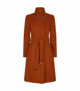 Ellgenc Belted Wrap Coat