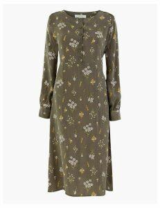 Per Una Cupro Ditsy Relaxed Midi Dress