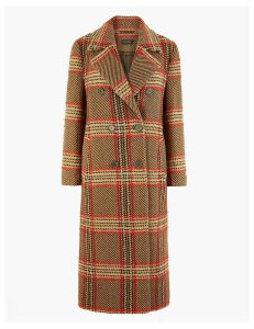 Autograph Checked Boyfriend Coat