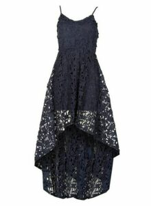 Womens *Izabel London Navy High Low Camisole Dress- Blue, Blue