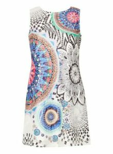 Womens *Izabel London Multicoloured Printed Shift Dress- Blue, Blue