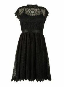 Womens *Tfnc Black Lace Pleated Dress, Black