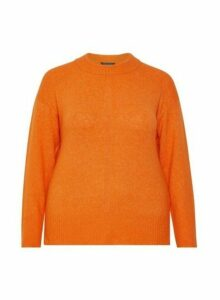 Womens **Dp Curve Orange Step Hem Jumper, Orange