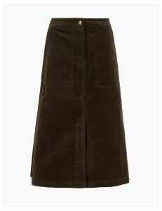 Per Una Needlecord A-Line Midi Skirt