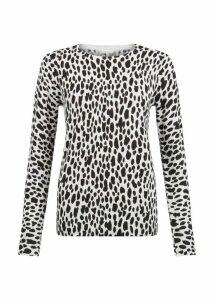 Riley Printed Sweater Grey Black