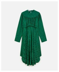 Stella McCartney Dynasty green Horse Jacquard Dress, Women's, Size 6
