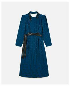 Stella McCartney Blue Horse Jacquard Dress, Women's, Size 10