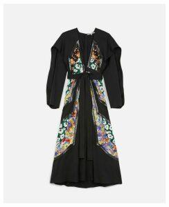 Stella McCartney Black Draped Twill Dress, Women's, Size 12