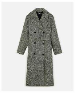 Stella McCartney Black Double-breasted coat, Women's, Size 12