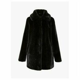Gerard Darel Piana Faux Fur Coat, Black