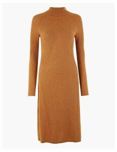 Autograph Merino Wool Rich Ribbed Shift Dress