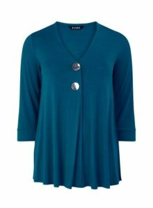 Teal Button Detail Top, Teal