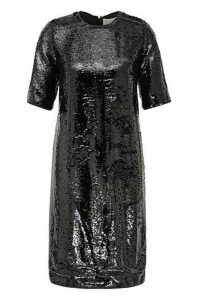 Sparkly T-shirt dress with all-over sequins