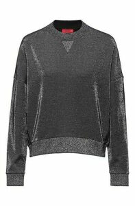 Relaxed-fit tracksuit sweatshirt in sparkly fabric