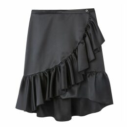 Ruffled Knee-Length Wrapover Skirt
