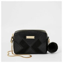 River Island Womens Black cutabout boxy cross body bag