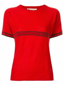 Gucci Pre-Owned Web stripe T-shirt - Red