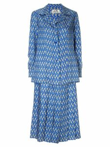 Hermès Pre-Owned tennis print skirt suit - Blue