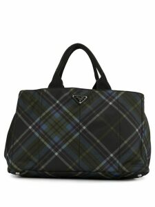 Prada Pre-Owned Canapa plaid travel bag - Black