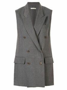 Hermès Pre-Owned peaked lapels elongated waistcoat - Grey
