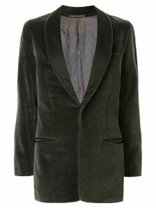 Gucci Pre-Owned textured shawl lapel jacket - Green