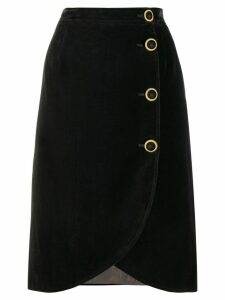 Valentino Pre-Owned 1980s wrap-front skirt - Black