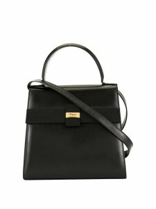 Salvatore Ferragamo Pre-Owned logo shoulder bag - Black
