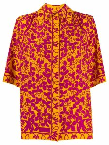 Christian Lacroix Pre-Owned 1990s foliage print shirt - ORANGE