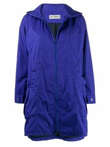 Issey Miyake Pre-Owned 2000s hooded raincoat - Purple