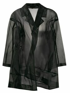 Comme Des Garçons Pre-Owned 1997 sheer oversized coat - Black