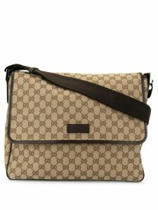 Gucci Pre-Owned GG pattern messenger shoulder bag - Brown