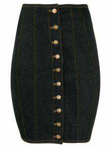 Jean Paul Gaultier Pre-Owned 1992 denim corset skirt - Black